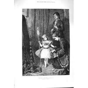 1879 QUEEN FAIRIES LITTLE GIRL COSTUME JOHNSON FINE ART