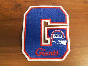 NEW YORK GIANTS NFL LARGE LETTER G LOGO PATCH  5 X 4 1/8 NEW