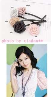 2pcs/lot Cute Rose Flower Hair Clip Hairpin For Women