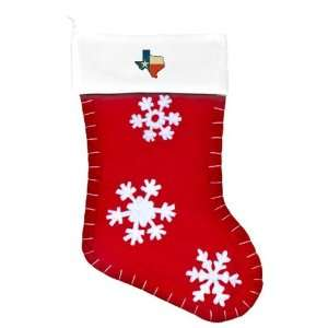 Felt Christmas Stocking Red Texas Flag Texas Shaped