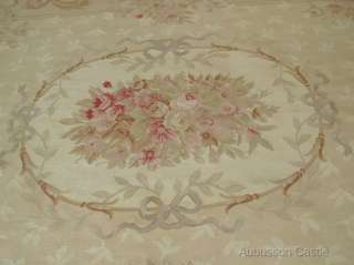 8X10 Woven Aubusson Area Rug   ANTIQUE FRENCH PASTEL Wool Handmade