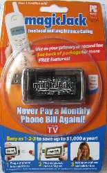 New MagicJack USB Phone Jack +1 Year Magic Jack Service