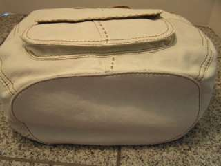 NWT LUCKY BRAND WHITE LEATHER LARGE CROSSROADS BUCKET CROSS BODY
