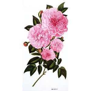 YiMei Waterproof tattoo stickers colored flowers and peony Beauty