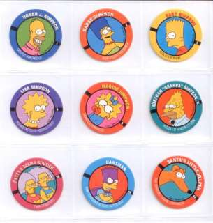 Homer & Marge Simpson & Family 9 New Pogs