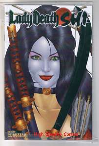 LADY DEATH : SHI #1, COA, Ltd, Green Foil Variant, NM+