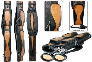 /Brown 2 Cue 3 Shaft WAVE CUE CASE custom billiard pool stick