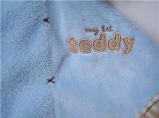 Carters MY 1st FIRST TEDDY Bear Security Blanket LOVEY Soft Baby Boy