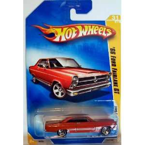 2009 Hot Wheels 031/190 66 Ford Fairlane GT Red 1:64 : Toys & Games