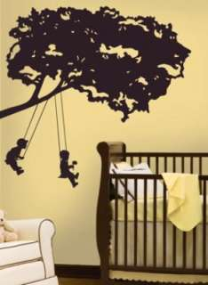 RoomMates Kids on Swing Peel & Stick Giant Wall Decal