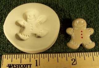 Small Gingerbread Man Polymer Clay Push Mold Christmas