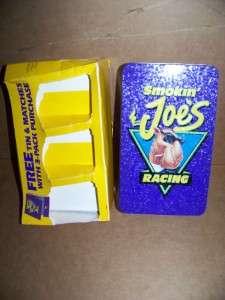 SMOKIN JOE CAMEL RACING TIN NEW W 50 MATCHBOOKS SEALED
