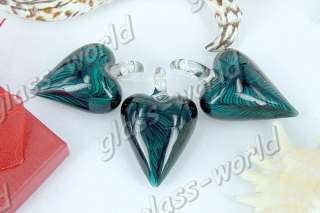 12PCS Heart 40*30MM Lampwork Glass Pendants FREE