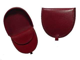 LARGE ~ Burgundy ~ All LEATHER ~ TRAY COIN PURSE ~ COIN Wallet