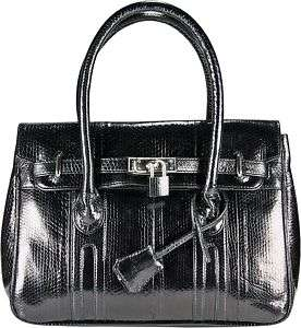 GENUINE BLACK SNAKE LEATHER BAG PURSE BSN295 SNAKE SKIN HANDBAG NEW