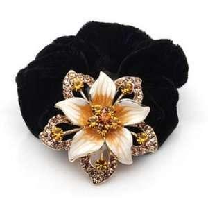 Gorgeous Austrian Crystal Flower Elastic Hair Band Beauty