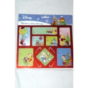 Pooh Christmas Peel N Stick Foil Gift Tags