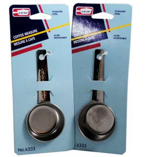 Lot of 2 Coffee Measure Spoon Scoops Stainless 1/8 cup 061541003332