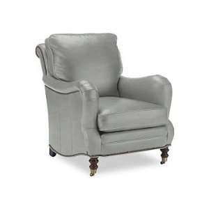 Williams Sonoma Home Drew Chair, Tuscan Leather, Dove