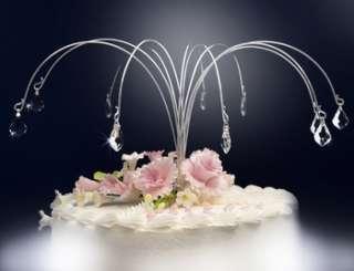 Wedding Cake Top HEART Crystal Cake Drops