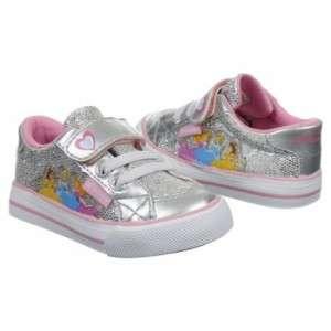Disney Princess girl silver shoe sparkle tennis sneaker