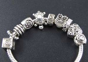 Tibetan Silver Mix Lovely Spacer Charm Beads Fit Bracelet ◆fm129