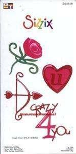 Sizzix Sizzlits 4 Dies VALENTINES DAY SET 654748 LOVE