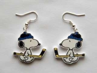 Hockey Peanuts Gang Snoopy Earrings