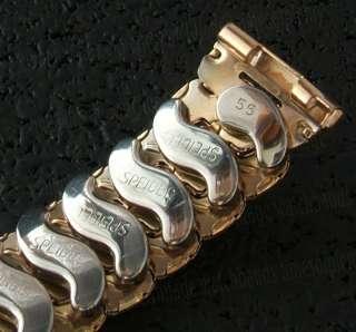 NOS 16mm Speidel Pink Gold gf 1950s Vintage Watch Band