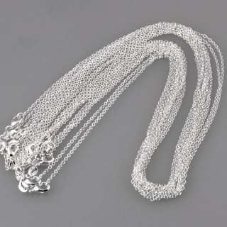 20PCS SILVER PLATED CHAINS ROLO NECKLACES FASHION JEWELRY NEW