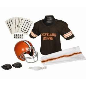 Cleveland Browns Football Deluxe Uniform Set   Size Medium
