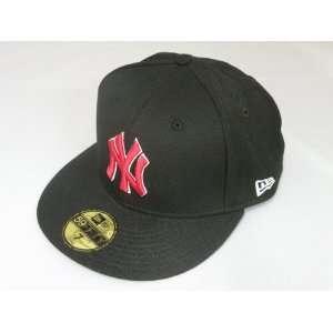 New Era New York Yankees Basic Black Scarlet White 59Fifty
