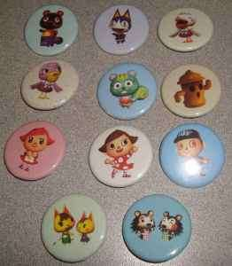 LOT 11 ANIMAL CROSSING BUTTONS PINS PINBACKS BADGES NEW