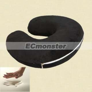 New Comfortable Black U Shaped Memory Foam Neck Rest Travel Pillow