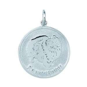 Sterling Silver Pomeranian Dog Charm Arts, Crafts