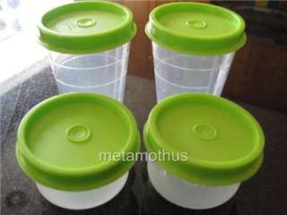 Tupperware Smidget Midget Pill Container Set 4 Green NEW