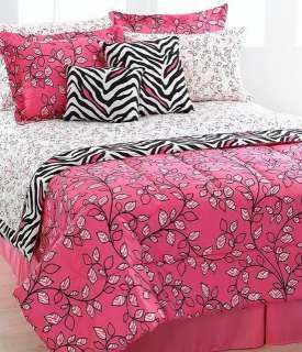 Jessica Sanders Zenia 8 Piece Twin Comforter Bed In A Bag Set Pink