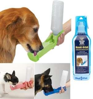 Dog Water Bottle w Bowl Dish Portable Dispenser Hiking Pack Foldable