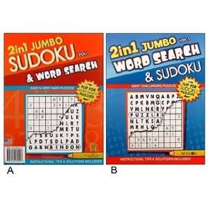 Puzzle Jumbo 2 In 1 Sudoku & Word Search Volume 1 Book Toys & Games