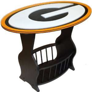 Fan Creations Green Bay Packers Logo End Table:  Home