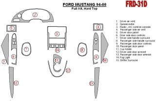 Ford Mustang Wood Chrome Dash Trim Kit Parts 94 00 |