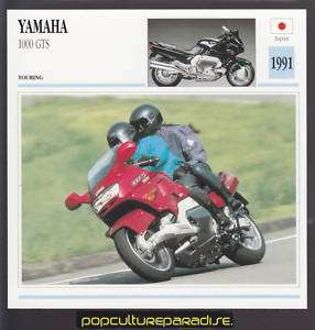 1991 YAMAHA 1000 GTS Motorcycle ATLAS PICTURE SPEC CARD