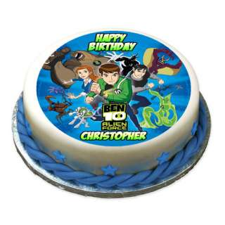 BEN 10 TEN Edible Cake Image Party Decoration Round