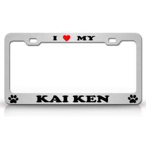 High Quality STEEL /METAL Auto License Plate Frame, Chrome/Blk/Red