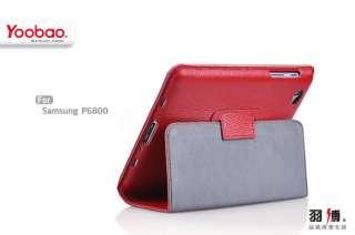 Red Black Original Yoobao Genuine Leather Case 7.7 Inch Samsung Galaxy