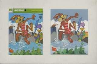 ROAD RUNNER / WILE E. COYOTE PUZZLE ORIGINAL ART (1977)