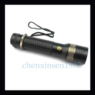 800LM ZOOMABLE 10W CREE LED Rechargeable Flashlight Torch + 18650