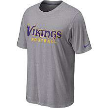 Nike Minnesota Vikings Sideline Legend Authentic Font Dri FIT T Shirt