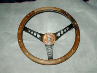 VINTAGE SUPERIOR WOOD STEERING WHEEL the 500   UNIVERSAL FIT