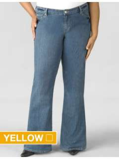LANE BRYANT   Right Fit stretch flare jean
